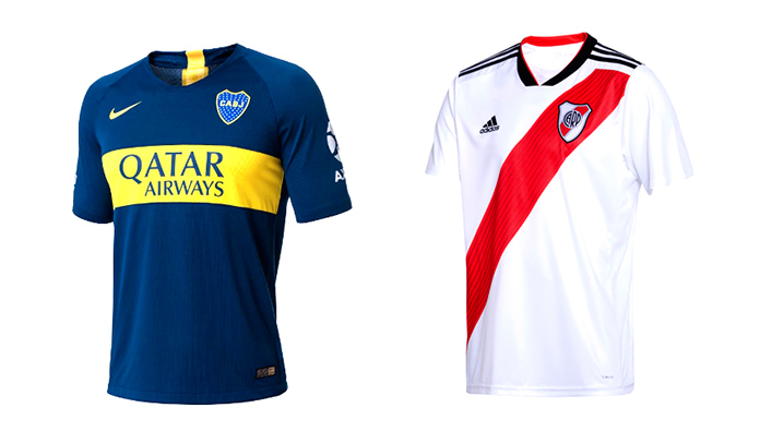 Camiseta Boca Juniors y River Plate