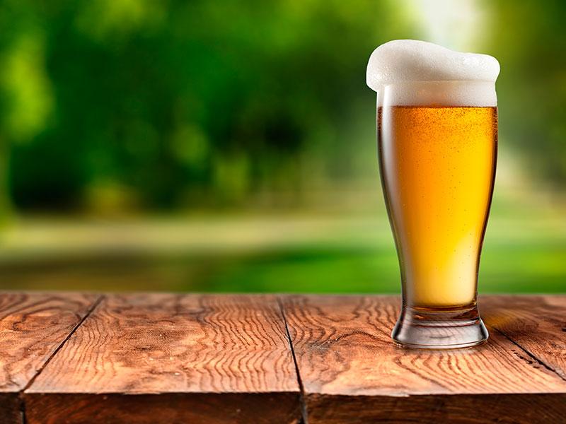 La cerveza baja de peso