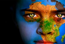 África fronteras en línea recta