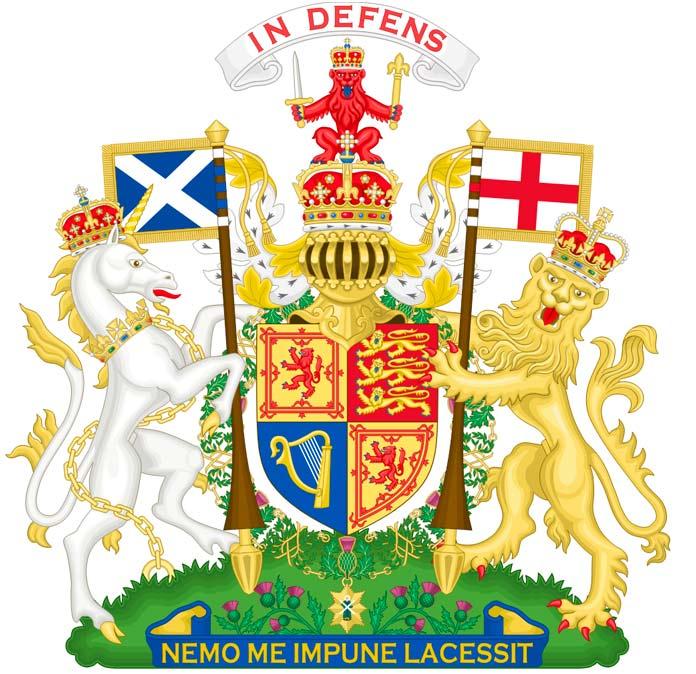 Escudo de Armas del Reino Unido en Escocia