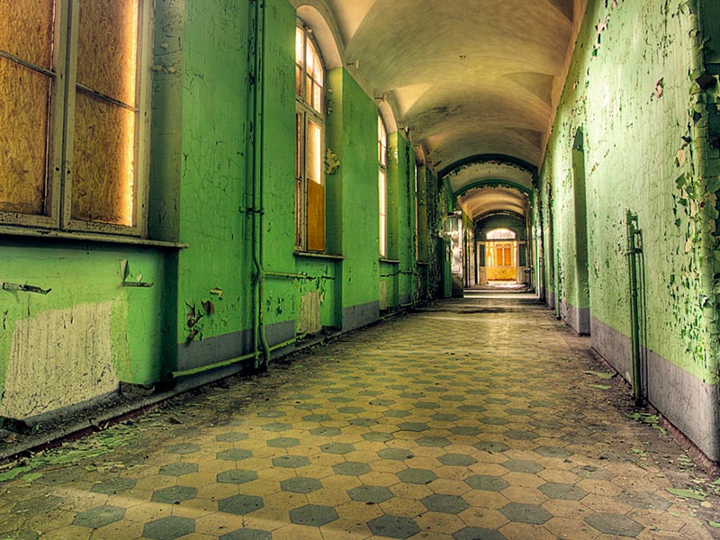 Hospital Beelitz Heilstätten pasillos