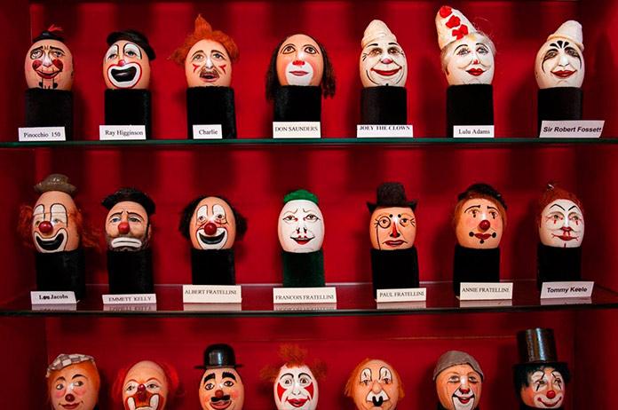Huevos de payasos del Clowns Gallery Museum