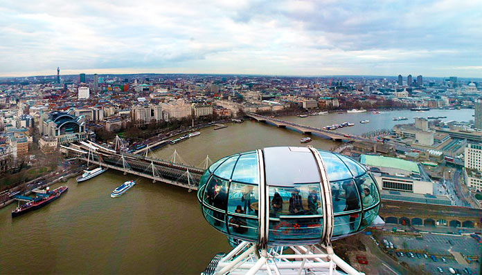 Vista de Londres desde una cabina del London Eye