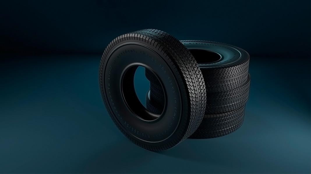 neumáticos apilados