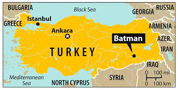 pueblo Batman en Turquía