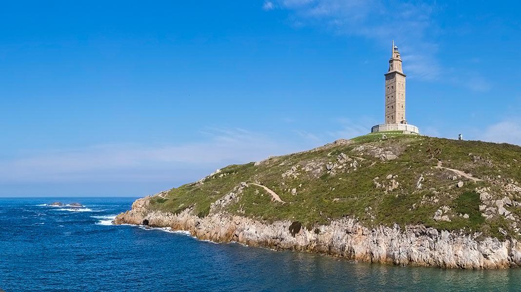 Imagen de la Torre de Hércules en La Coruña